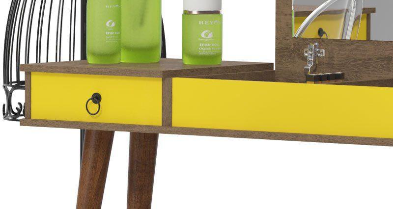 Penteadeira Multifuncional Demolição Amarelo - Patrimar Móveis  - MoveisAqui - Loja de móveis online!