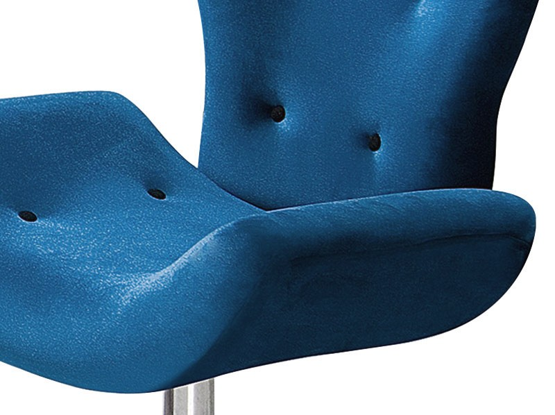 Poltrona Ibiza Azul PR437 giratorio cromado - FortBello Estofados