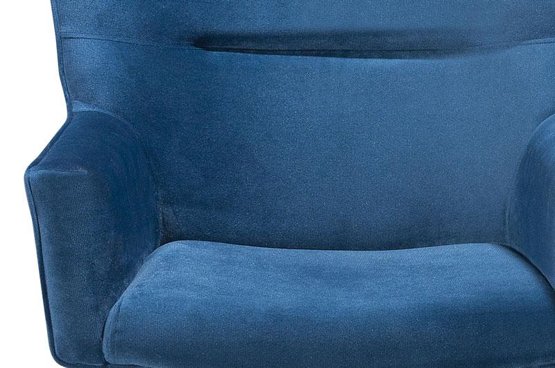 Poltrona Luna Azul PR437 giratorio cromado - FortBello Estofados  - MoveisAqui - Loja de móveis online!