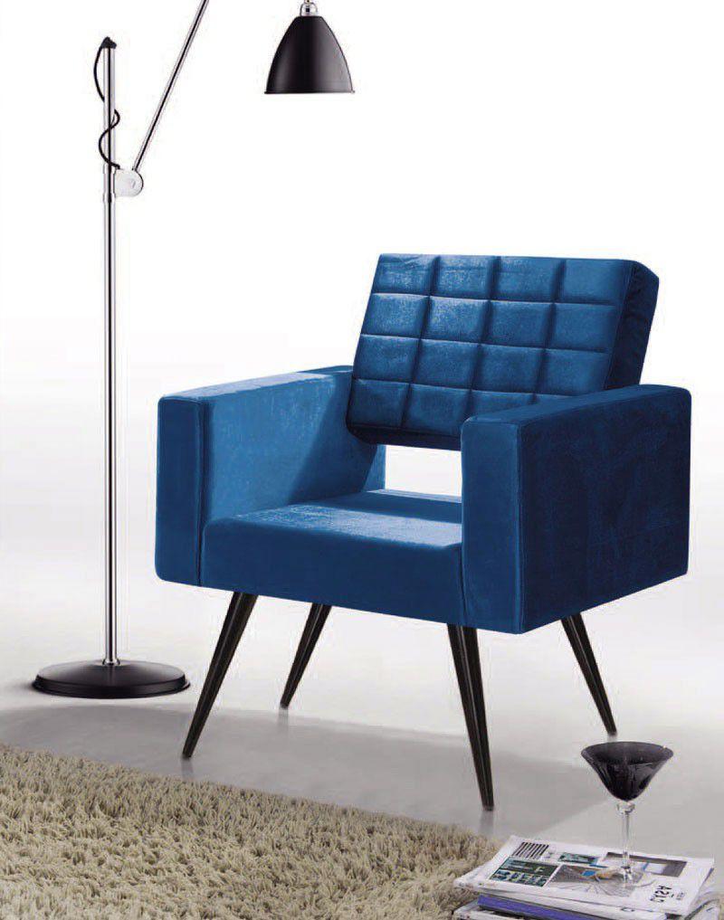 Poltrona Roma Azul PR437 - FortBello Estofados