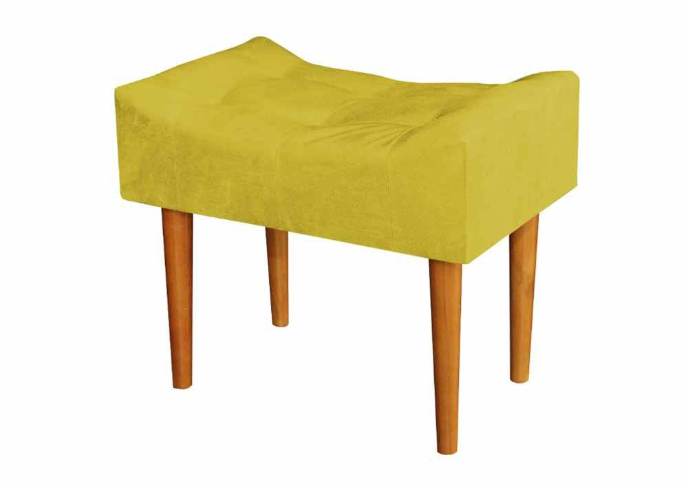 Puff Banqueta Retrô Opala Amarelo - MoveisAqui