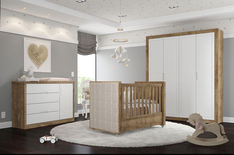 Quarto de Bebê Completo Tutto New Branco Soft com Teka - Matic Móveis