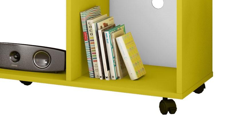 Rack Aruba Amarelo com Branco Brilho - Moveis Bechara