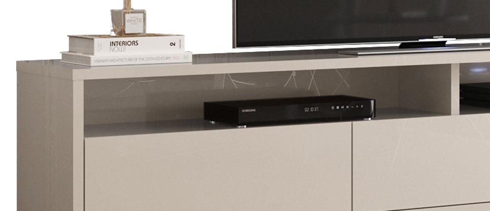 Rack Bancada para TV Aspen 2.2 Off White - MoveisAqui