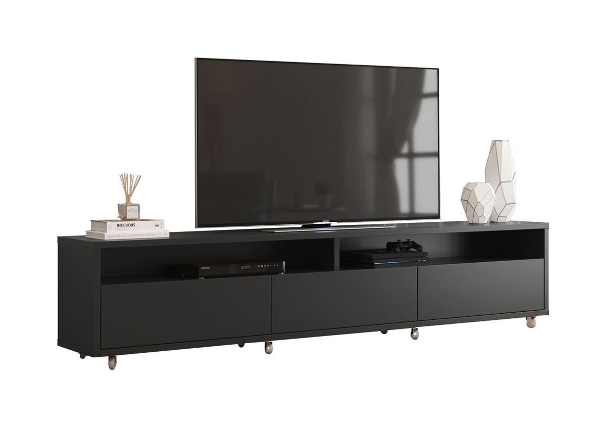 Rack Bancada para TV Aspen 2.2 Preto - MoveisAqui