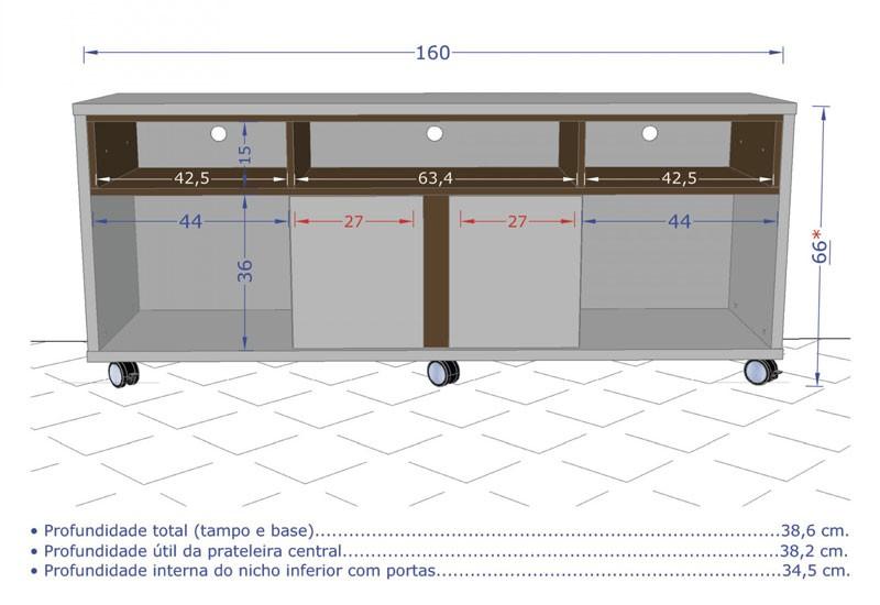 Rack Caribe Vanilla Rústico com Madeira Rústica - Móveis Bechara  - MoveisAqui - Loja de móveis online!