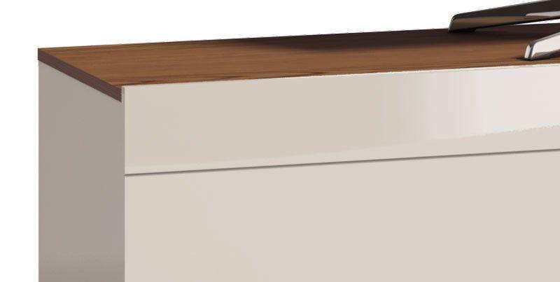 Rack Classic 2G 1.8 Off White com Freijó - Imcal Móveis