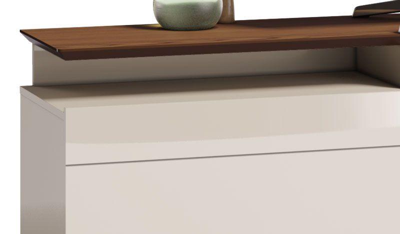 Rack Classic +2G 2.2 Off White com Freijó - Imcal Móveis