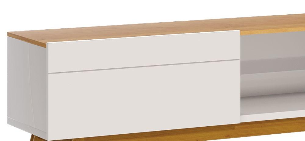 Rack Classic 2G 2.2 Off White com Nature - Imcal Móveis
