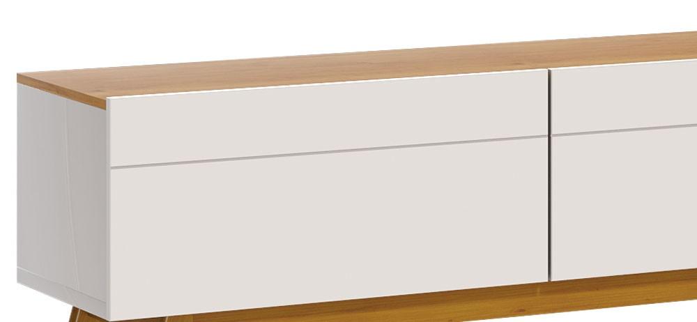 Rack Classic 3G 1.8 Off White com Nature - Imcal Móveis