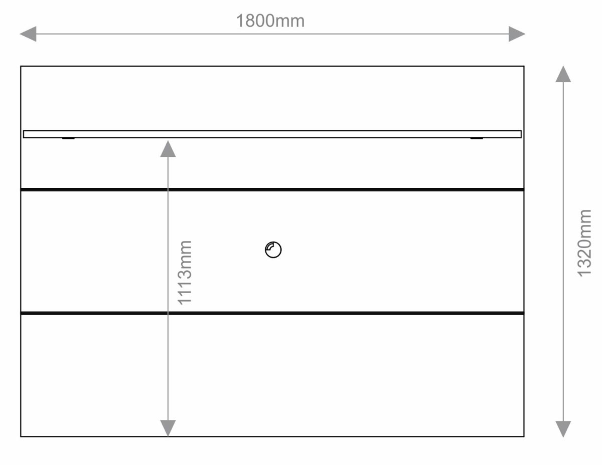 Rack com Painel Arizona 1P 1.8 Preto - MóveisAqui