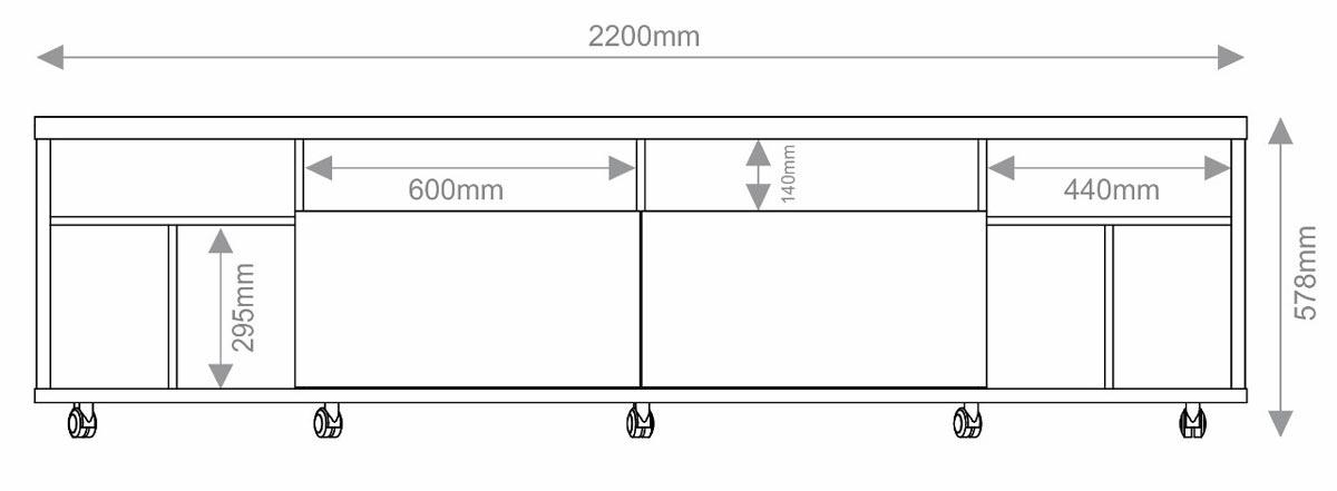 Rack com Painel Arizona 2.2 1T Canela - MoveisAqui