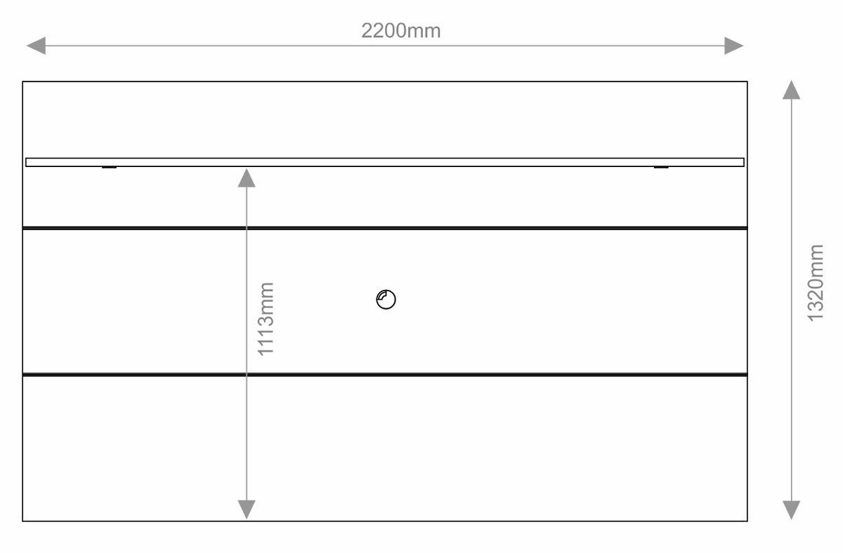 Rack com Painel Arizona 2.2 Preto - MóveisAqui
