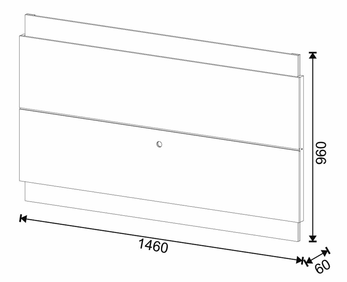 Rack com Painel Classic 1G 1.4 Freijó com Off White - Imcal Móveis