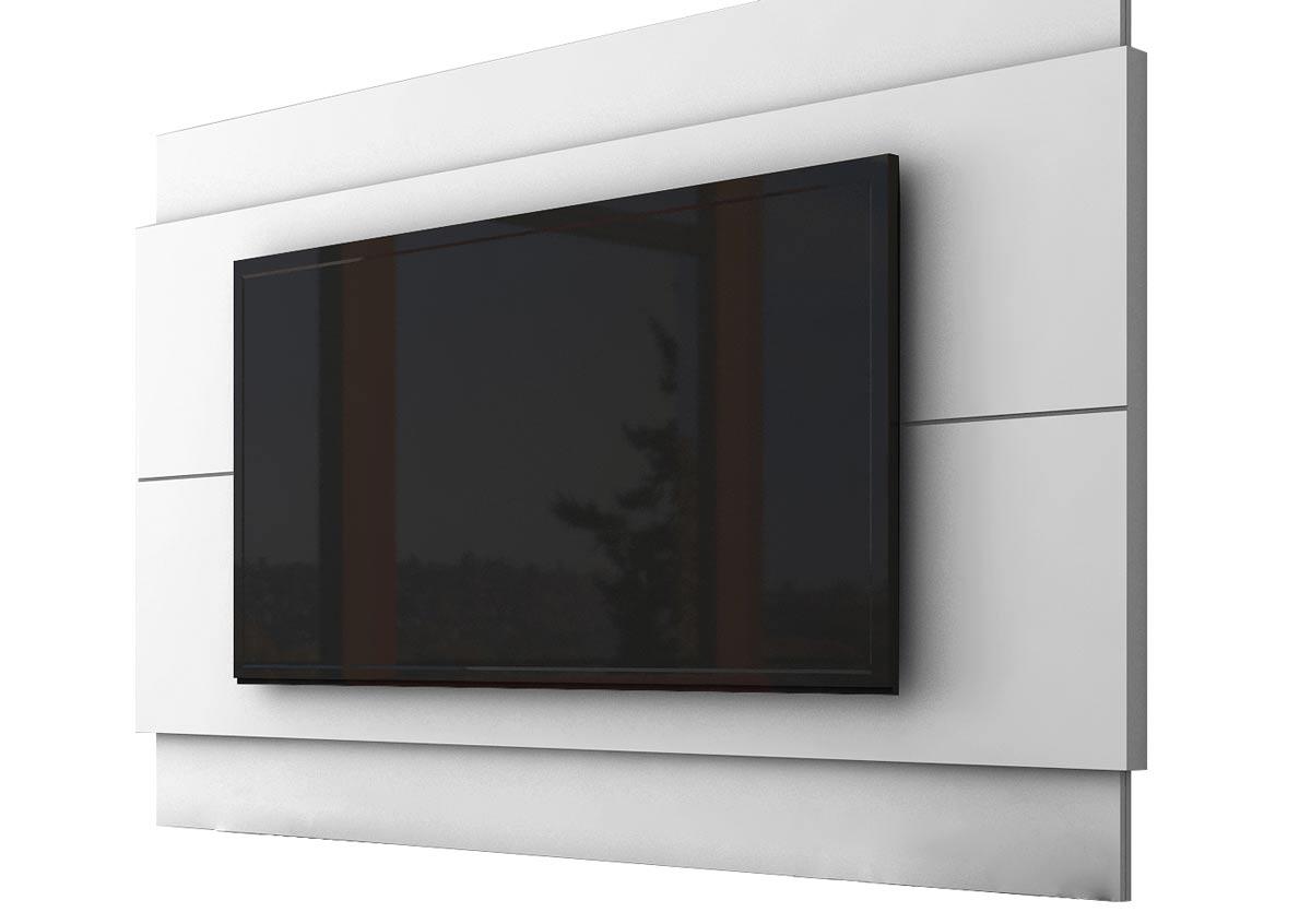 Rack com Painel Classic +2G 1.4 Branco Acetinado - Imcal Móveis