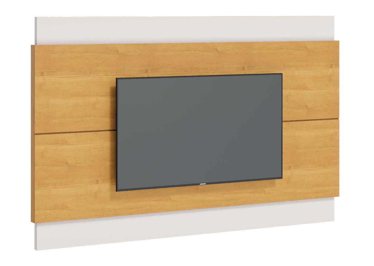 Rack com Painel Classic 2G 2.2 com LED Nature com Off White - Imcal Móveis