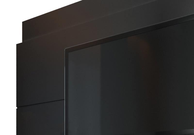 Rack com Painel Classic 2G 2.2 com LED Preto - Imcal Moveis