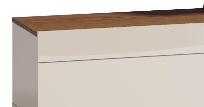 Rack com Painel Classic 2G 2.2 Off White com Freijó - Imcal Móveis