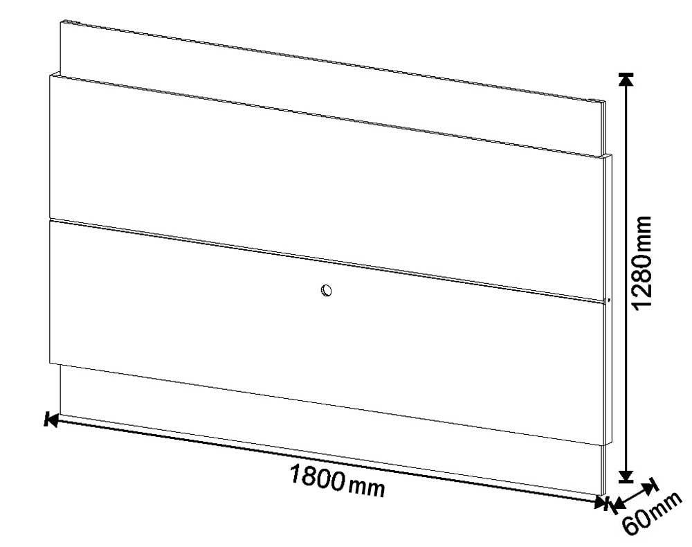 Rack com Painel Classic +3G 1.8 com LED Freijó com Off White - Imcal Móveis