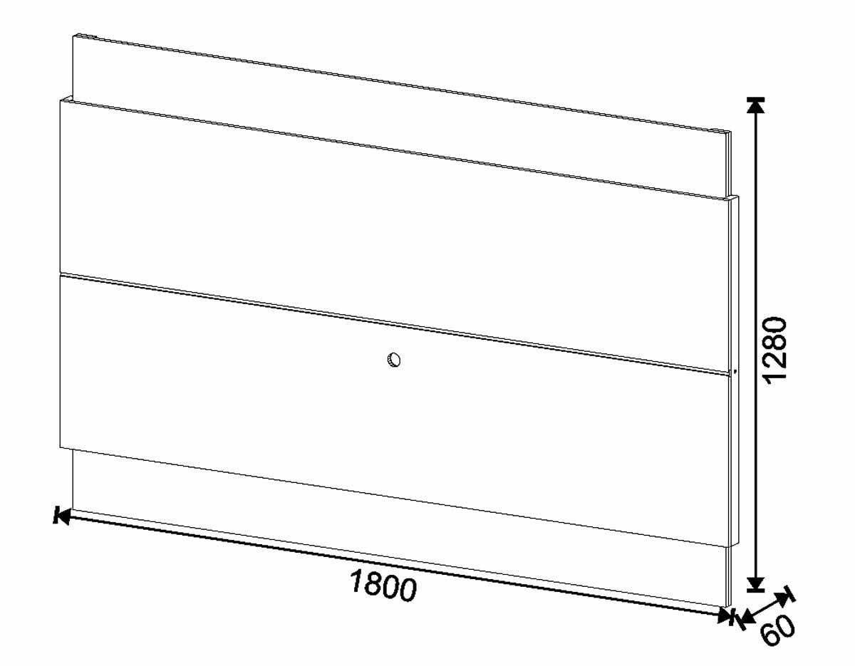 Rack com Painel Classic 3G 1.8 Freijó com Off White - Imcal Móveis