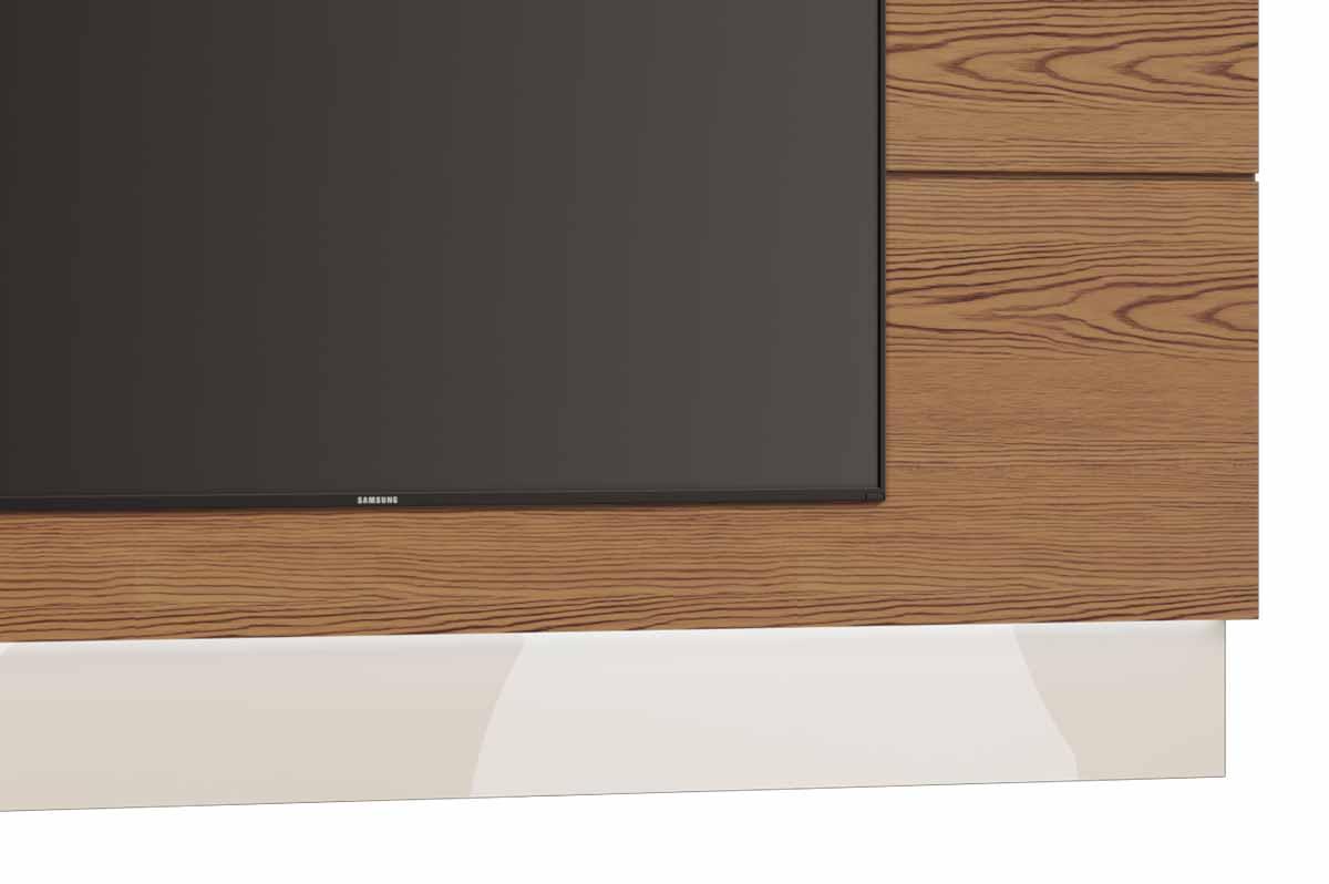 Rack com Painel Classic 3G 2.2 Freijó com Off White - Imcal Móveis