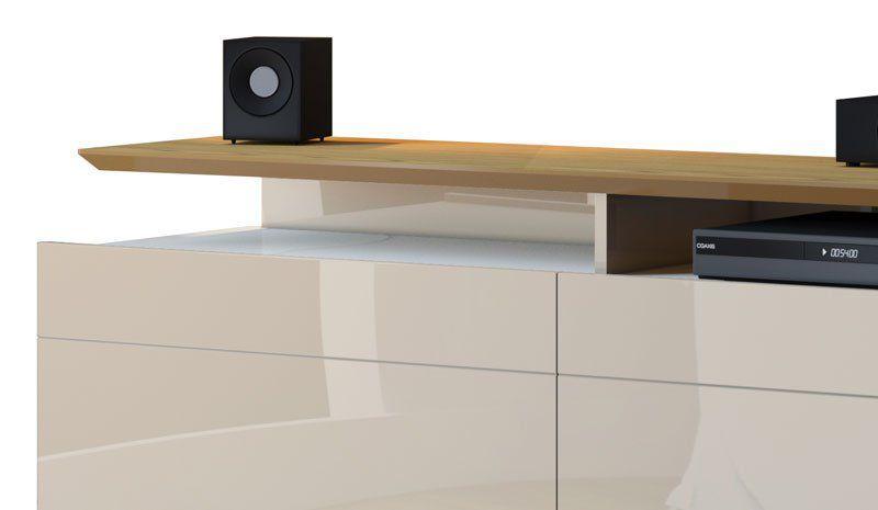 Rack com Painel Classic +3G 2.2 com LED Freijó com Off White - Imcal Móveis