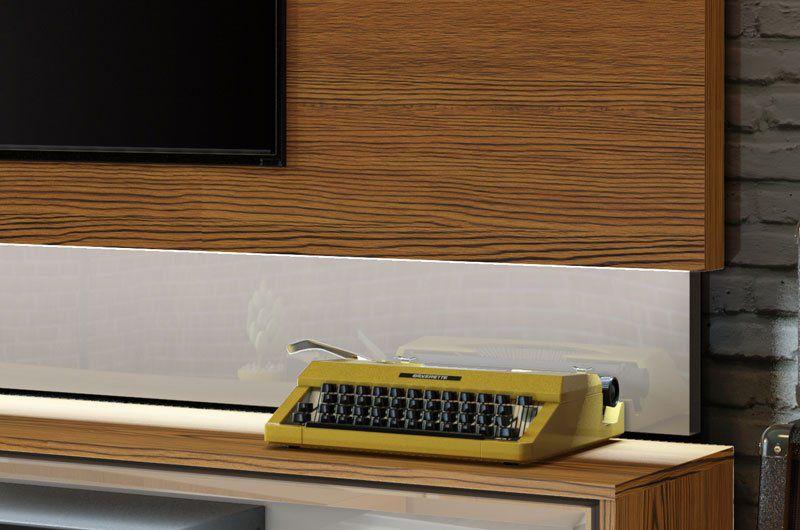 Rack com Painel Classic +3G 2.2 Freijó com Off White - Imcal Móveis