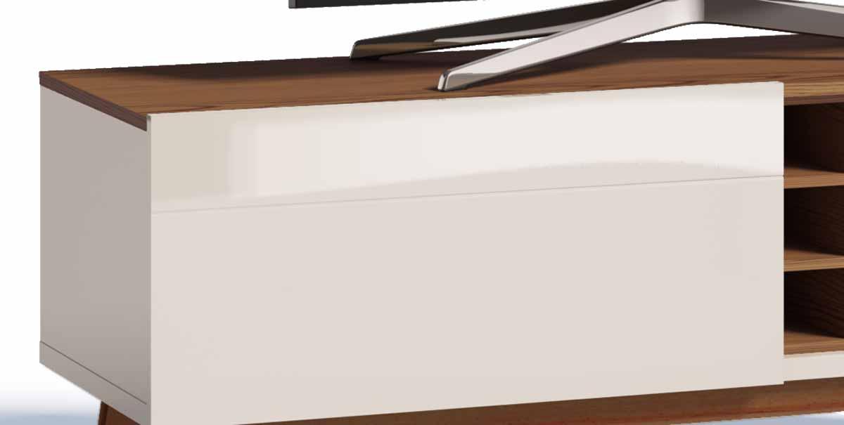 Rack com Painel Classic AD 1.4 Freijó com Off White - Imcal Móveis