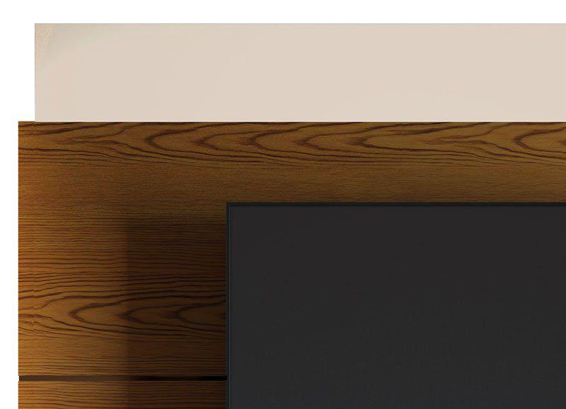 Rack com Painel Classic AD 1.8 Freijó com Off White - Imcal Móveis