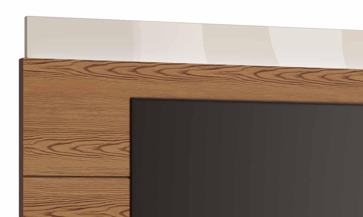 Rack com Painel Classic +AD 2.2 Freijó com Off White - Imcal Móveis