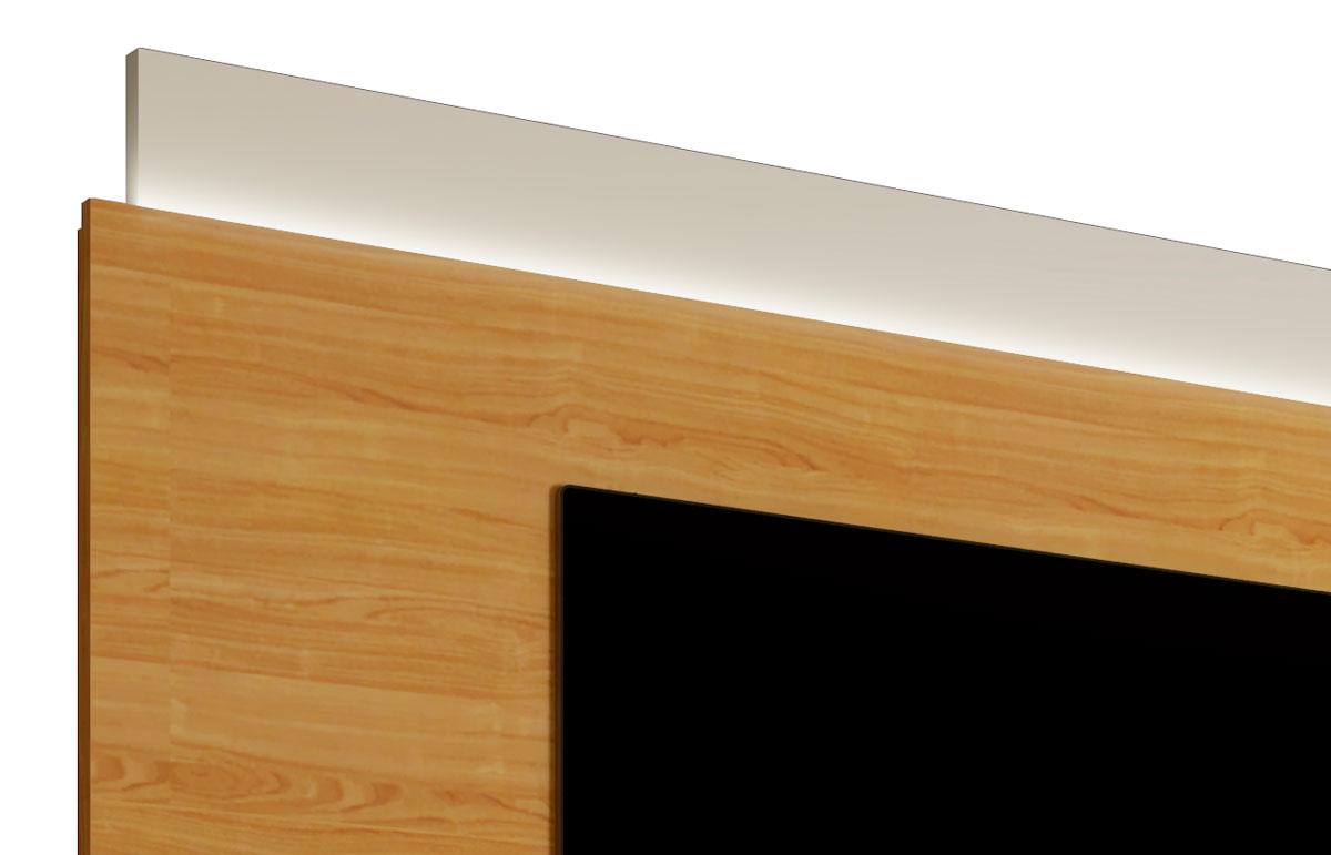 Rack com Painel Delux 1.8 com LED Off White com Nature - MoveisAqui