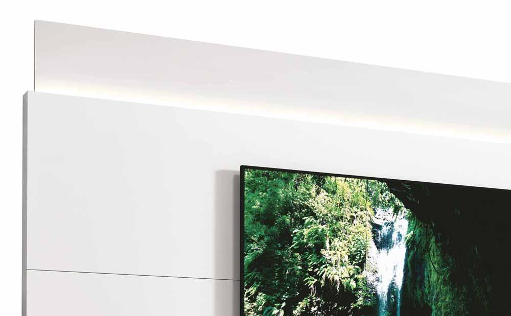 Rack com Painel Delux 2.2 com LED Branco - MoveisAqui