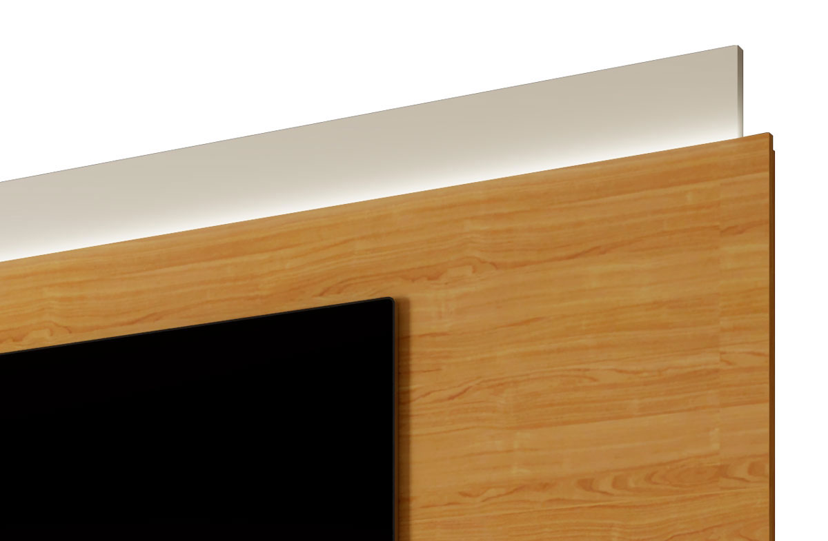 Rack com Painel Horizon 2.2 com LED Off White com Nature - MoveisAqui