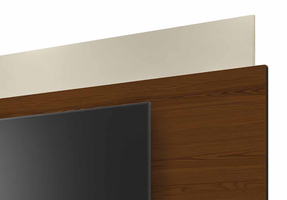 Rack com Painel Horizon 2.2 Off White com Natural - MoveisAqui