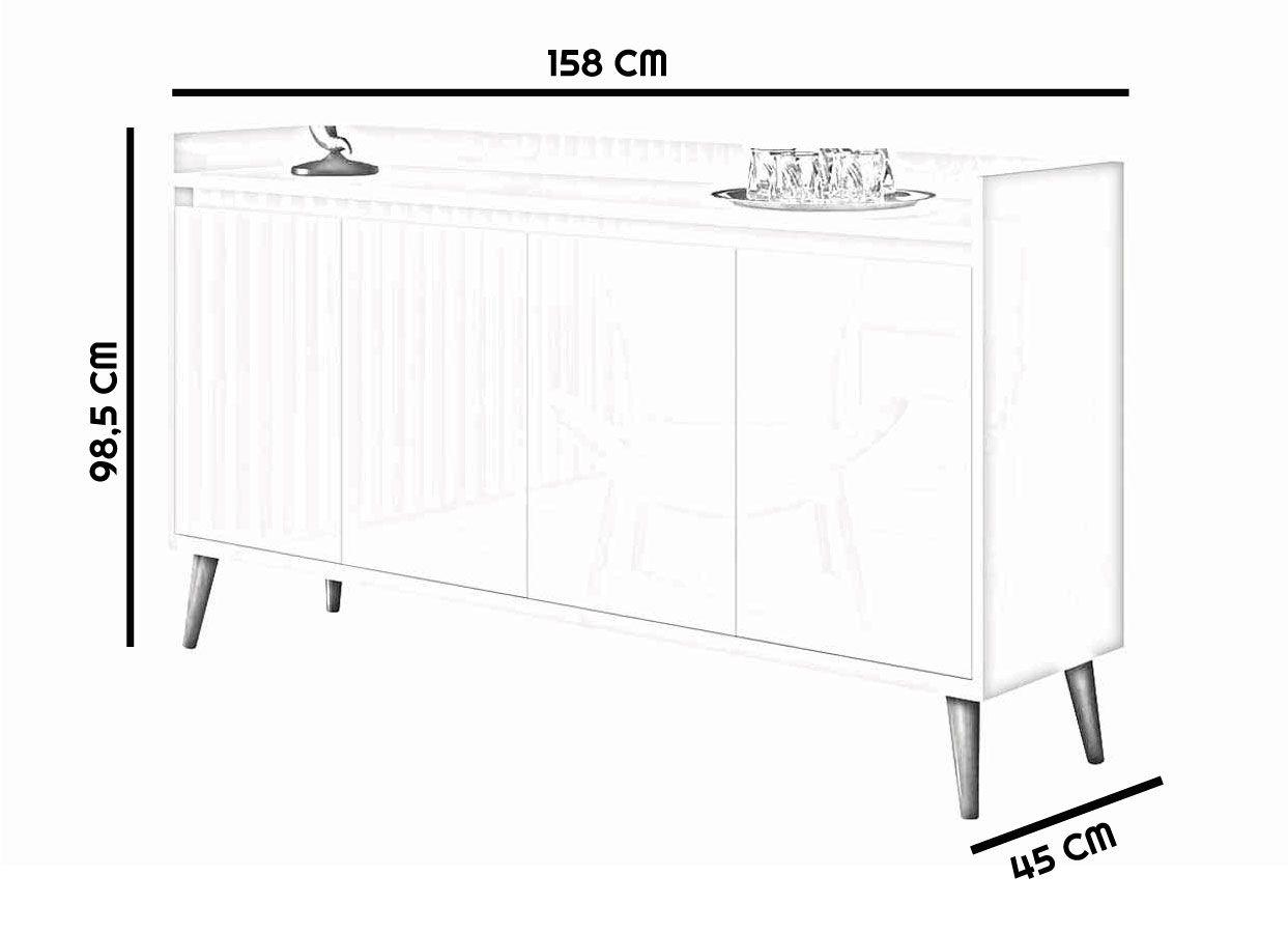 Conjunto Sala de Estar Rack com Painel 2.2 + Buffet - MoveisAqui