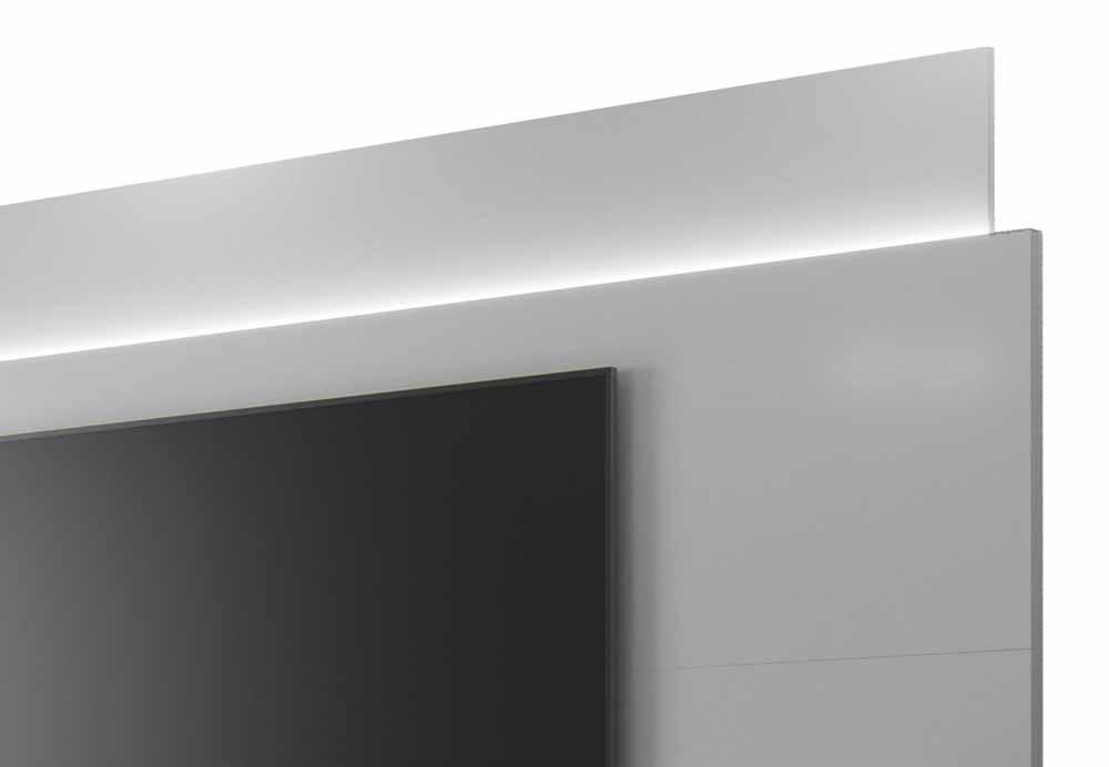 Rack com Painel Horizon 2.2 com LED Branco - MoveisAqui