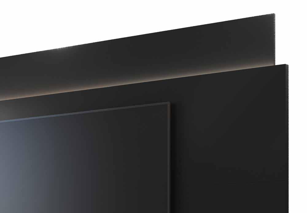 Rack com Painel Horizon 2.2 com LED Preto - MoveisAqui