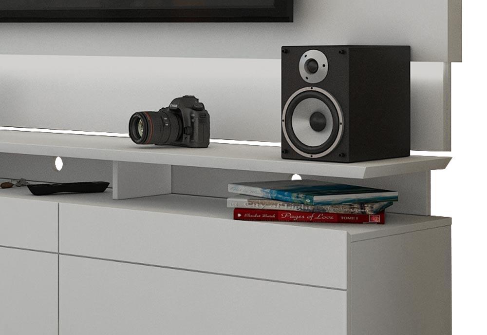 Rack com Painel Para TV 55 Polegadas Branco Classic +3G 1.8 com LED - Imcal Móveis