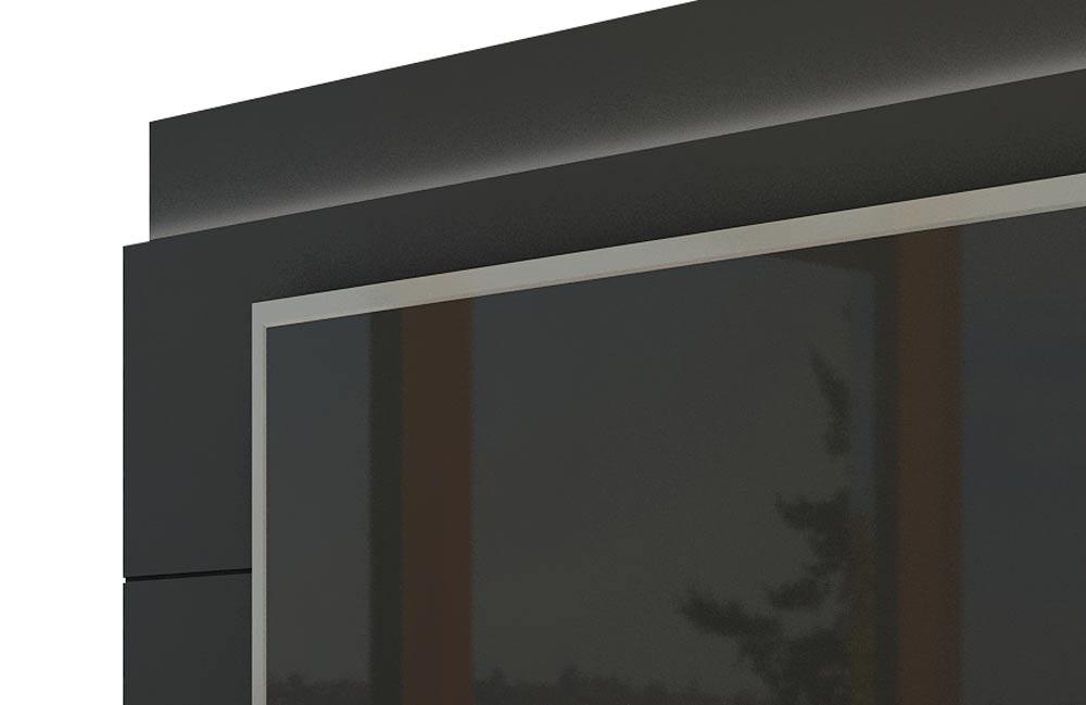 Rack com Painel Para TV 55 Polegadas Preto Classic 2G 1.8 com LED - Imcal Móveis