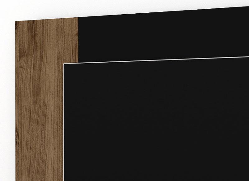 Rack com Painel Triton Canela com Preto - Imcal  - MoveisAqui - Loja de móveis online!