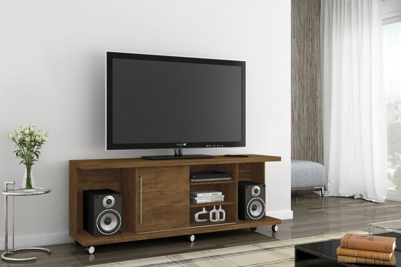 Rack para TV Grafite Gold Wood - Germai Móveis  - MoveisAqui - Loja de móveis online!