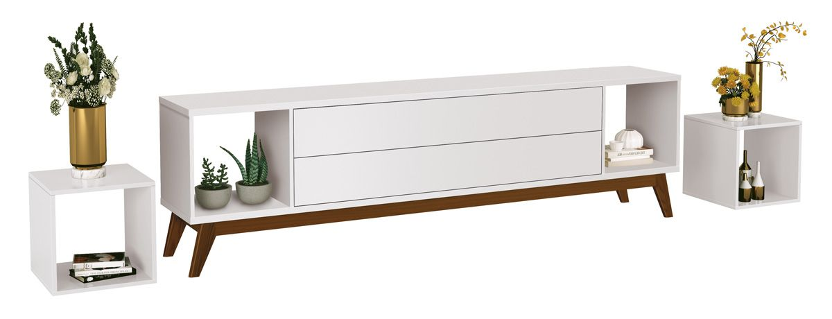 Rack para TV Horizon 2.2 Branco - MoveisAqui