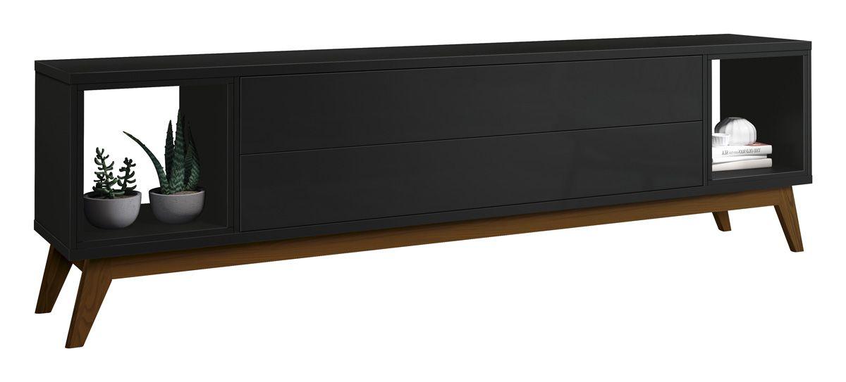 Rack para TV Horizon 2.2 Preto - MoveisAqui