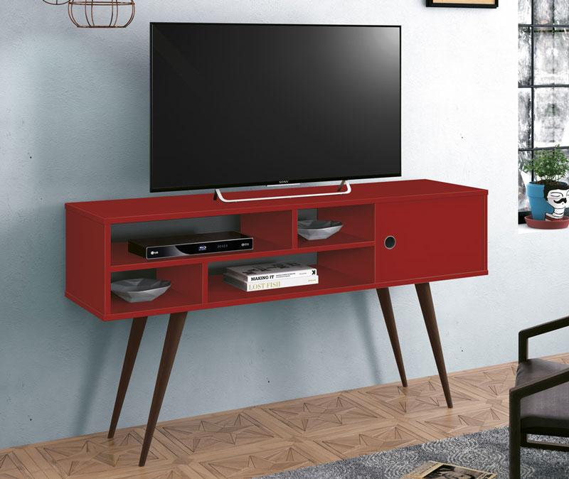 Rack para TV Kenzo Vermelho - Edn Móveis