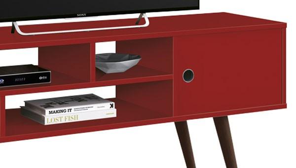 Rack para TV Kenzo Vermelho - Edn Móveis  - MoveisAqui - Loja de móveis online!