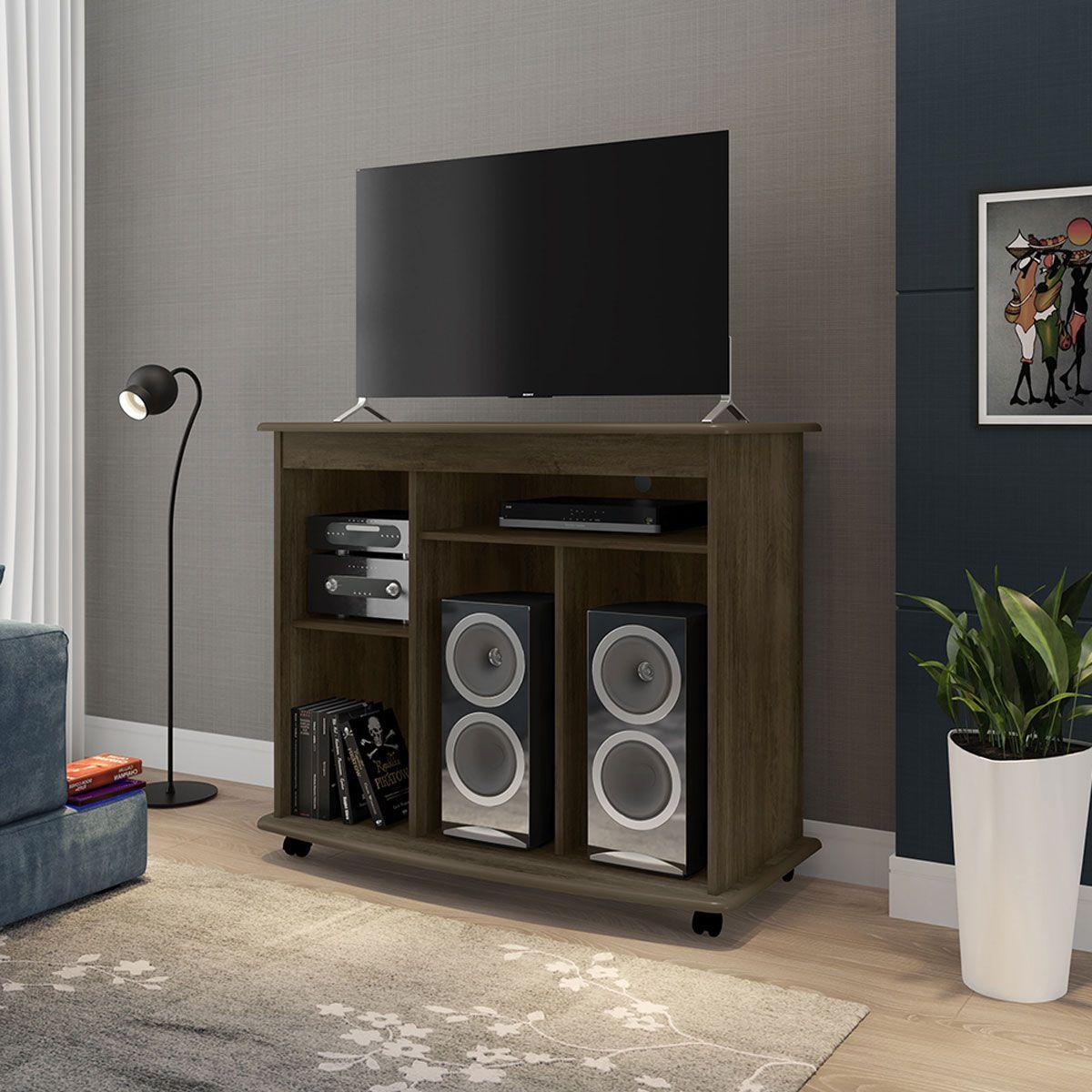 Rack para TV Madri II Noce - RV Móveis