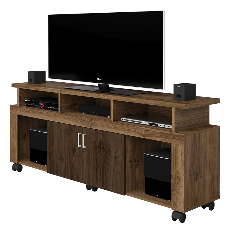 Rack para TV New Canela com Castanho - Imcal