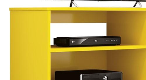 Rack para Tv Reale Amarelo - Edn Moveis