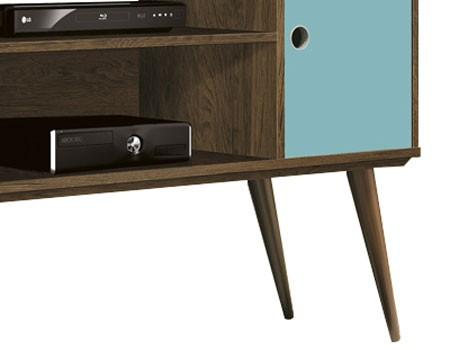 Rack para TV Reale Nogal Rústico com Acqua - Edn Móveis  - MoveisAqui - Loja de móveis online!