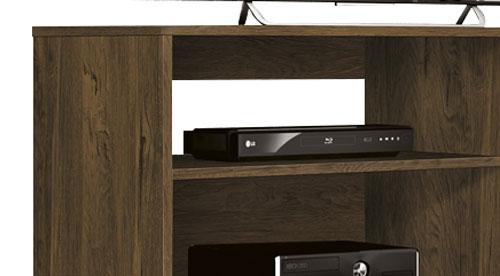 Rack para TV Reale Nogal Rústico com Off White - Edn Móveis